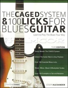 The Caged System & 100 Licks for Blues Guitar 3rd Edition TAB SAME DAY DISPATCH
