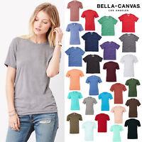 Bella + Canvas Unisex Triblend Crew Neck Tee 3413-Plain Top Short Sleeve T-Shirt