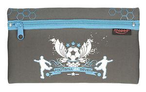 HELIX PENCIL CASE Football 24/7 Boys Black Blue Zipped School Stationery