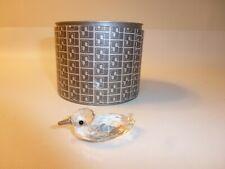 Swarovski Silver Crystal Duck Figurine with Box 7653 Nr 045 (Retired)