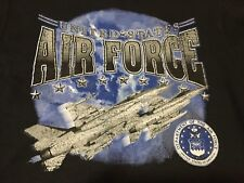 United States Air Force Fighter Jet Small Black Sweatshirt