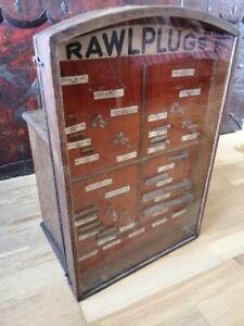Rare 1930's Rawl Plug Shop Display and Drawers