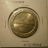 Vintage Albertsons Gaming/Slot  $1 Gaming Token Reno Nevada #19C031301