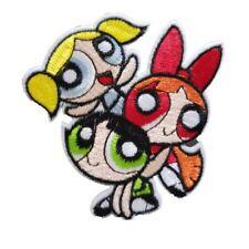 Powerpuff Girls FACES Iron On Patch Sew On transfer The Power puff Girls cartoon