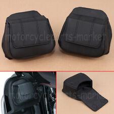 Black Fairing Lower Door Pockets #5208 Fit For Harley Touring Models 2014-2019