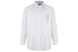 Hemd Langarm Übergrößen 3XL,4XL,5XL,6XL.7XL,8XL in weiß mit Button Down Kragen