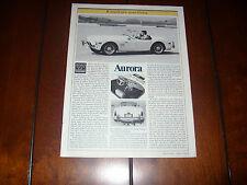 1983 AURORA MK II COBRA SHELBY  ***ORIGINAL ARTICLE***