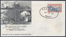 BAHAMAS 1940 WILLIAMSON ATMOSPHERE POSTED ON THE SEA FLOOR THE ONLY UNDERSEA POS