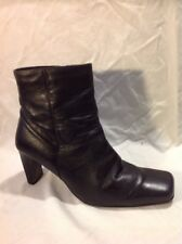 George Black Ankle Leather Boots Size 7