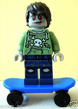Lego Minifigure - Zombie Skateboarder Exclusive from DK, I Love that Minifigure