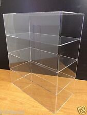 "Acrylic Counter top Display Case 16"" x 8"" x 19"" Show Case Cabinet Shelves"