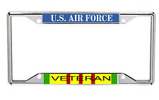 US Air Force Veteran Metal License Frame with Vietnam Service Colors Every State