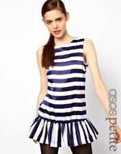 Petite Scoop Neck Sleeveless Striped Dresses for Women