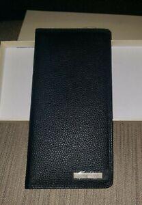 Vtg Pactrans Mens Black Travel Passport Document Holder Faux Leather New