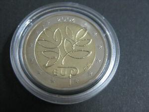 Finnland 2 Euro Gedenkmünze 2004 EU-Osterweiterung, stgl.  in Kapsel