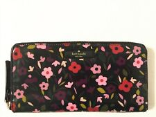 NWT Kate Spade Daycation Boho Floral Neda Zip Around Continental Clutch Wallet