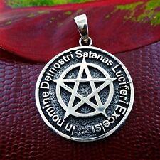 Sterling Silver Pentagram Pendant Wiccan Pagan Luciferi Excelsi