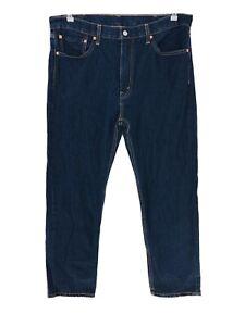 Levi's 505 Bleu Foncé Droit Jeans Coupe Standard W38 L32