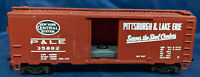 AHM: P&LE 35892 PITTSBURGH & LAKE ERIE. WEIGHTED: BROWN BOX CAR HO SCALE Vintage