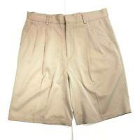 Greg Norman Mens Golf Shorts Sz 32 Pleated Khaki Men's EUC