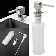Brushed Stainless Steel Head Kitchen Sink Liquid Soap Dispenser