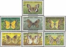 Uzbekistan 85-91 (complete issue) unmounted mint / never hinged 1995 Butterflies