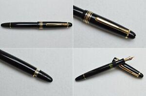 Rare Vintage 1950s Montblanc Masterpiece 142 Fountain Pen 14C EF-B Flex Nib