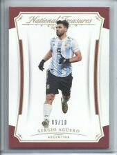 2018 NATIONAL TREASURES GOLD PARALLEL BASE SERGIO AGERO 09/10 JERSEY # ARGENTINA