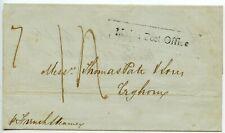 MALTA 1840 Wrapper to Leghorn h/s framed `Malta Post Office' pr French Steamer