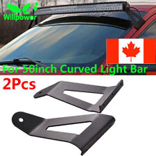 "50"" Curved Led Light Bar Roof Mount Brackets For Jeep Cherokee XJ 1984-2001 CA"