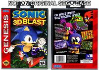 Sonic 3D Blast - Sega Genesis Custom Case *NO GAME*