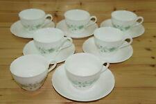 "Villeroy & Boch Heinrich Girlande (7) Cups, 2 1/2"" & (6) Saucers, 6"""