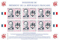 "POLITICAL LABELS NP ""Presidential / Inauguration Day President HOLLANDE"" 2012"