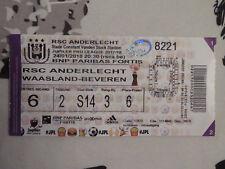 TICKET : RSC ANDERLECHT - WAASLAND BEVEREN 24-01-2018
