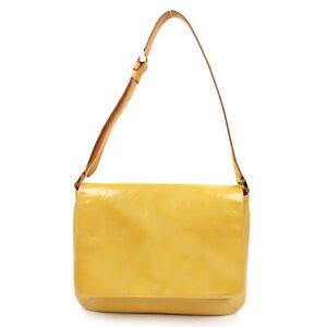 LOUIS VUITTON Monogram Vernis Thompson Street Shoulder Bag Yellow M91071