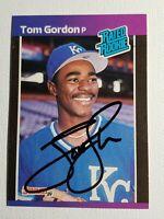 1989 Donruss Tom Gordon RC Autograph Card Auto, Royals Red Sox Yankees Signed
