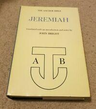 1965 ANCHOR BIBLE Jeremiah Old Testament Notes by John Bright 1st Ed HC/DJ