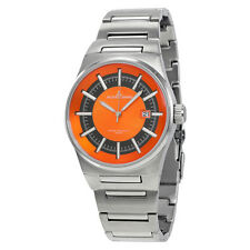 Jacques Lemans Nevada Orange Dial Stainless Steel Mens Watch 1-1334D