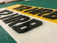 4D NUMBER PLATES 3D 4D LASER CUT NUMBER PLATE LETTERS - SINGLE LETTER