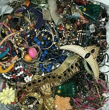 HUGE VINTAGE MOD JUNK COSTUME JEWELRY CRAFT ART LOT 35 LBS + 2 BOXES PACKED FULL