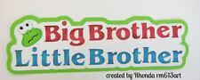 Big Brother/Lil Brother paper piecing title premade scrapbook  Rhonda rm613art