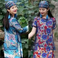 Women's  Ethnic Turban Hat Cap Head Wrap Scarf Beanie Embroidered Florals Retro