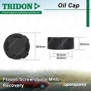 Tridon Recovery Radiator Cap for Audi 5+5 80 90 100 200 A6 A8 S2 S4 S8 V8