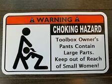 Choking Hazard Tool Box Warning Sticker - Gold - Must Have!! mac snapon dewalt
