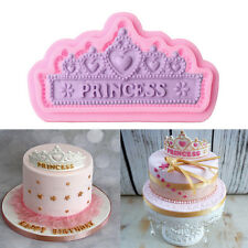 3D Lace Crown Silicone Fondant Mold Cake Decorating Chocolate Baking Mould Tools