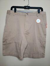Wonder Nations Boys Flat Front Shorts Size 16 Husky Tan Kid Tough School Uniform