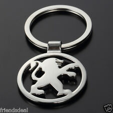 P1 3D PEUGEOT Metal Alloy Car Key Chain Key ring Logo Fob Chrome keyring Gift UK
