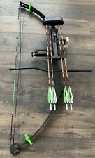 "Hoyt Easton Gamegetter 1 Compound Bow RH 29-30"" 45-60# Loaded Arrows Sight Rest"
