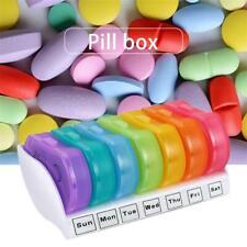 7Day Pill Organizer Box Storage Dispenser Travel Medicine Tablet Holder Box