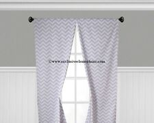 Chevron Curtain Panels Window Treatments Drapes Valance Gray Black Blue Curtains